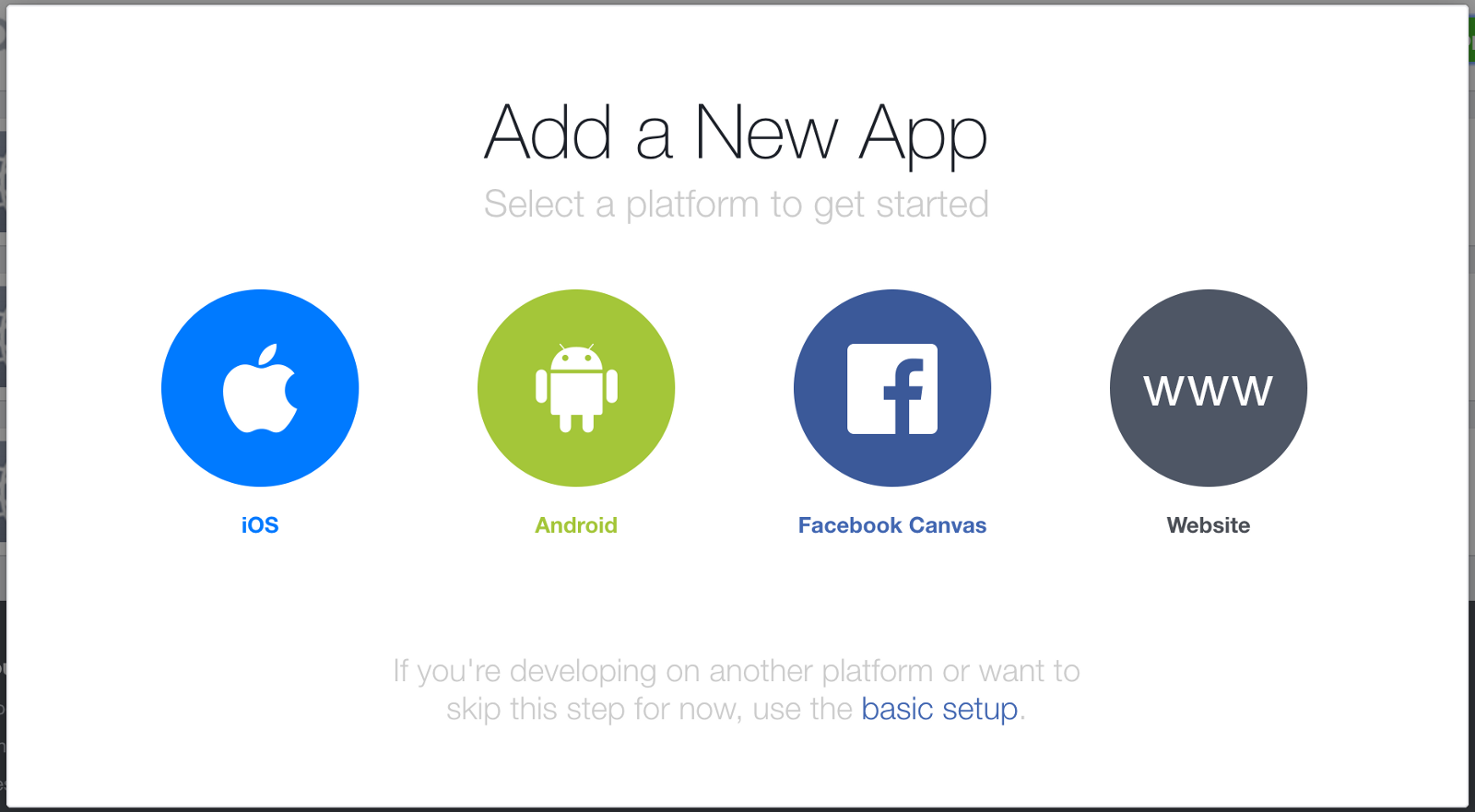 Creating a new Facebook iOS app