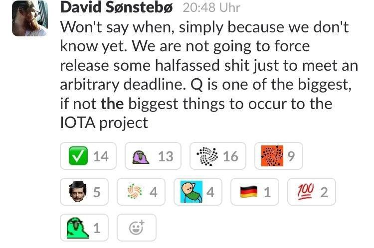 Iota in case you are waiting for q chris mueller aka many are wondering whether q will be released in q1 2018 lately there have been news all of the screenshots are taken from discord sciox Images