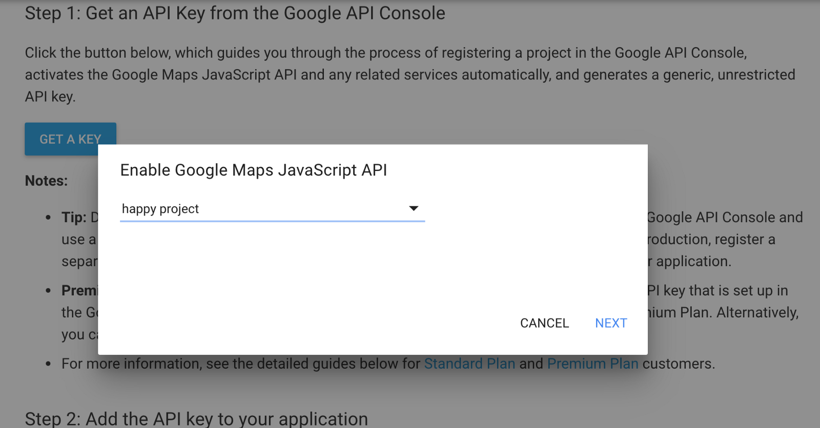 How to get a key from Google Maps JavaScript API – Quick Code – Google Api Console Maps on
