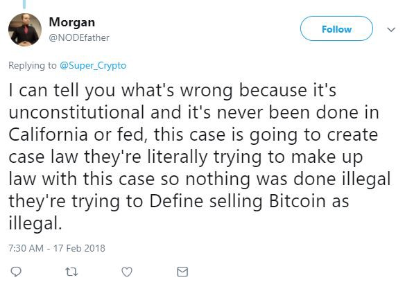 Morgan rockwell ceo bitcoin inc arrested by dept of homeland security i asked morgan about why he thinks the arrest was wrong this is what he replied ccuart Choice Image