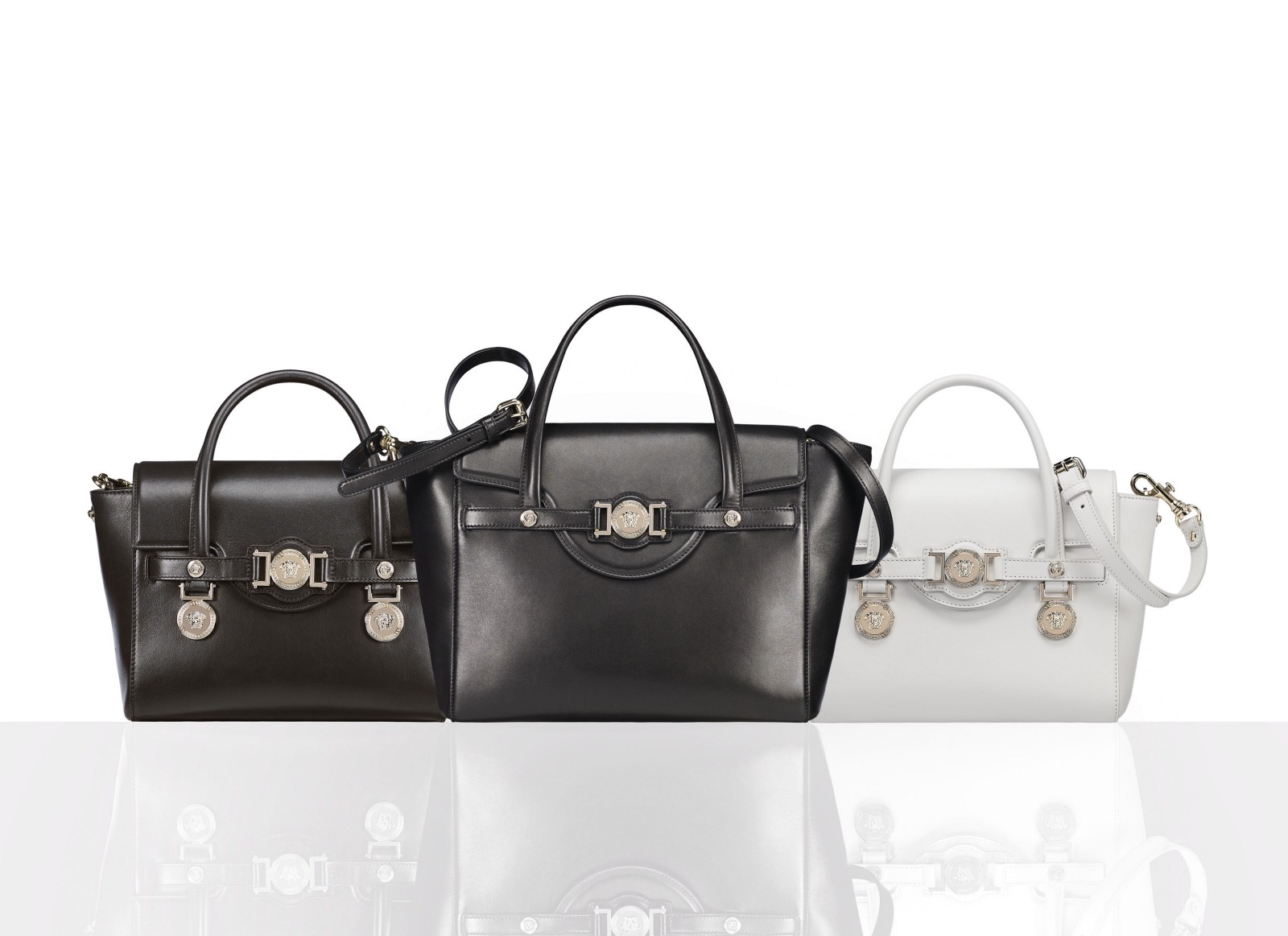 The luxurious Signature bag family represents the unmistakable flair of  Versace  contemporary 22362f7712ed3