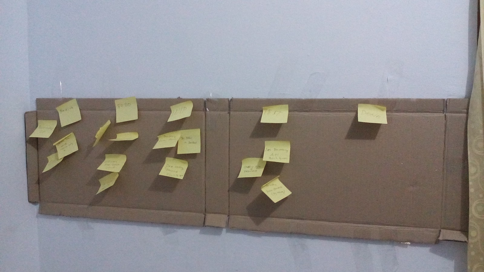 My mini and low budget Kanban Board.