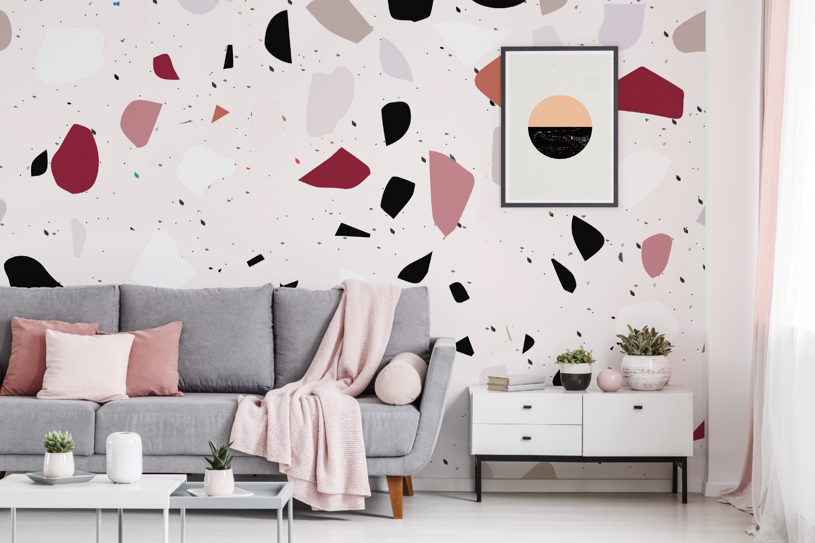 The pinkish living room inpsiration by pixers