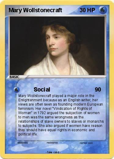 Hmm, Okay. There's a Lot of Mary Wollstonecraft Pokemon Cards.