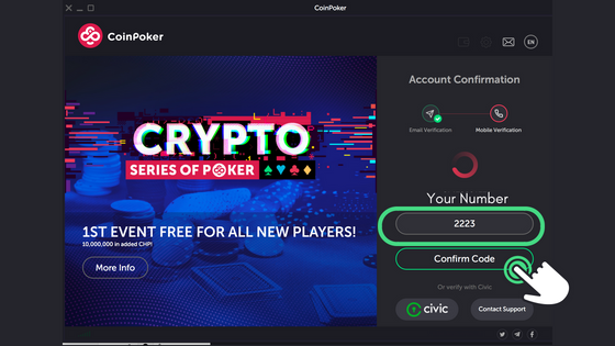 Guide to Getting Started on CoinPoker Step 9