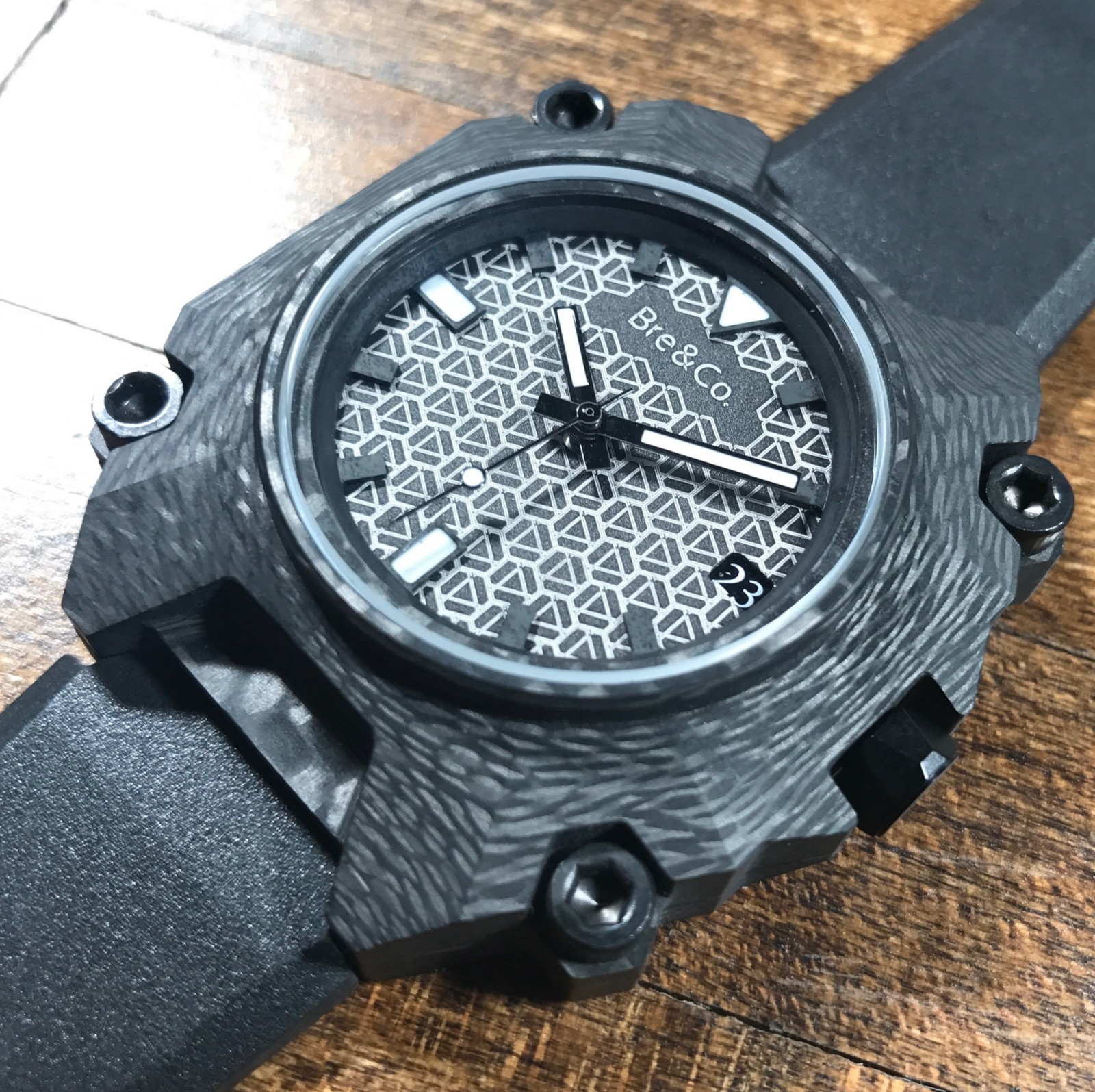 honolulu forged carbon ii challenge chrono cvstos watches red rubber