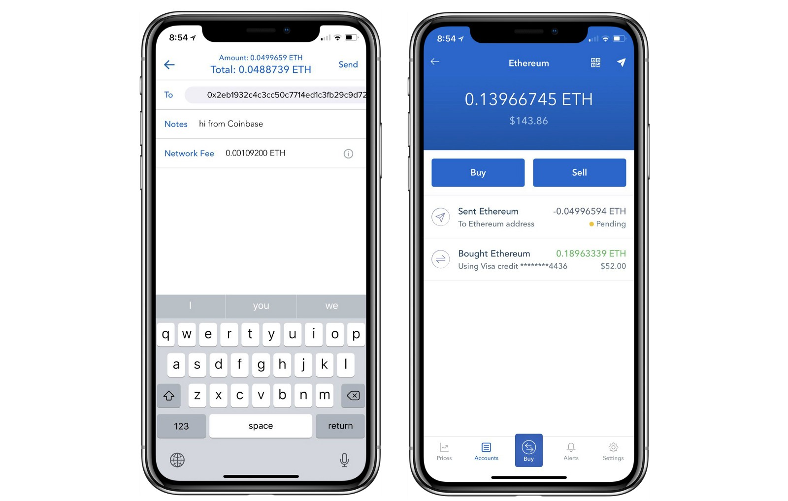 how to send ether to coinbase