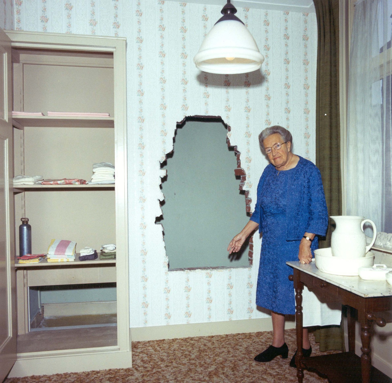 Corrie Ten Boom And The Hiding Place In Her Room Source Yad Vashem World Holocaust Remembrance Center