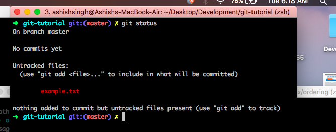 git commit only one file