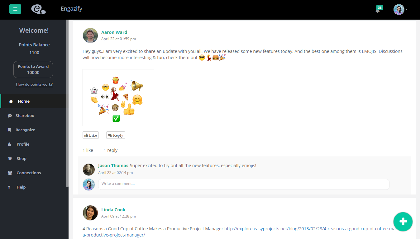 How Engazify Helps You In Keeping Your Remote Team Motivated Start Help Share Ideas A Discussion