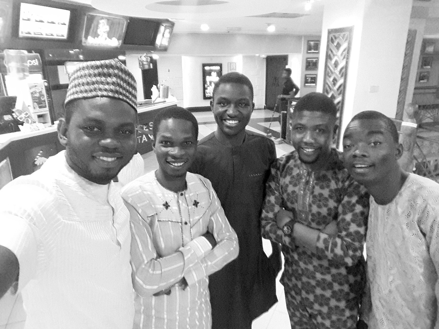 My fine-wine friends; (L-R) Myself, Joseph, Olawale, Imole & Abayomi. I think Abayomi's face is meme-worthy