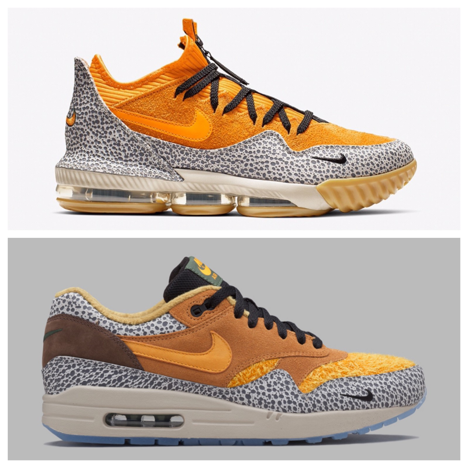 a8c1f5974ff The upcoming LeBron 16 Low x Atmos and the previously released Air Max 1 x  Atmos  Safari