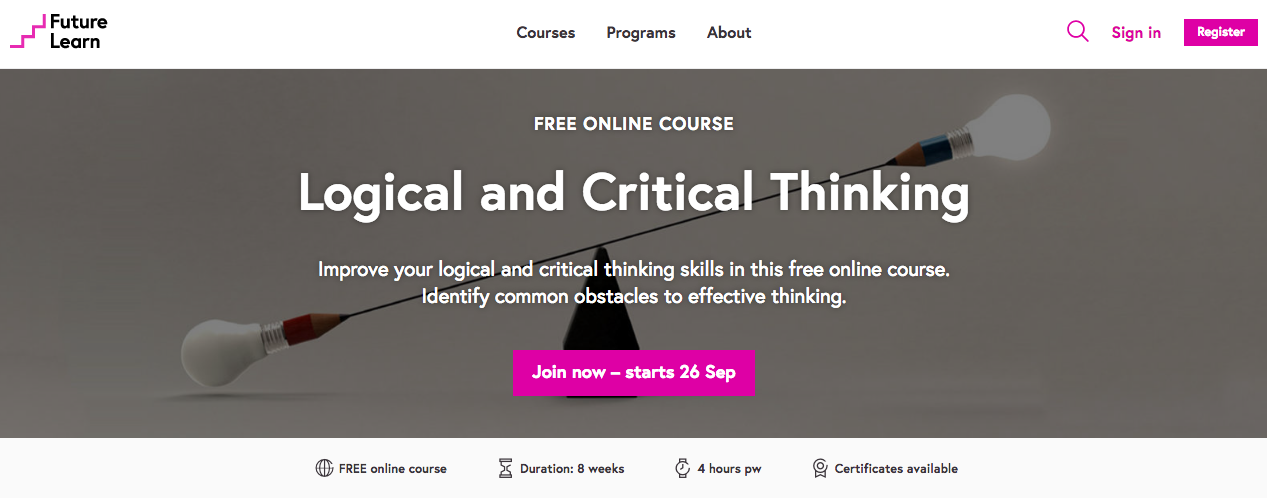 critical thinking training courses Critical thinking for acquisition professionals is a three day case-based introduction to the professional arts of systematic reasoning a unique government training experience a hands-on think tank sm in which you learn to research critical thinking course schedule.