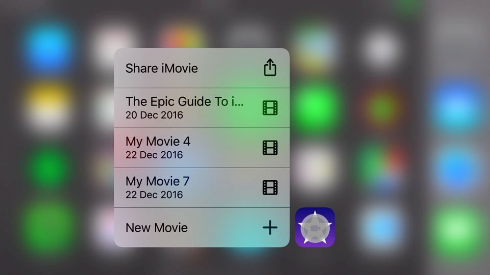 Imovie for iphone ipad 15 advanced editing tips tricks 2017 use 3d touch in imovie for iphone ccuart Images