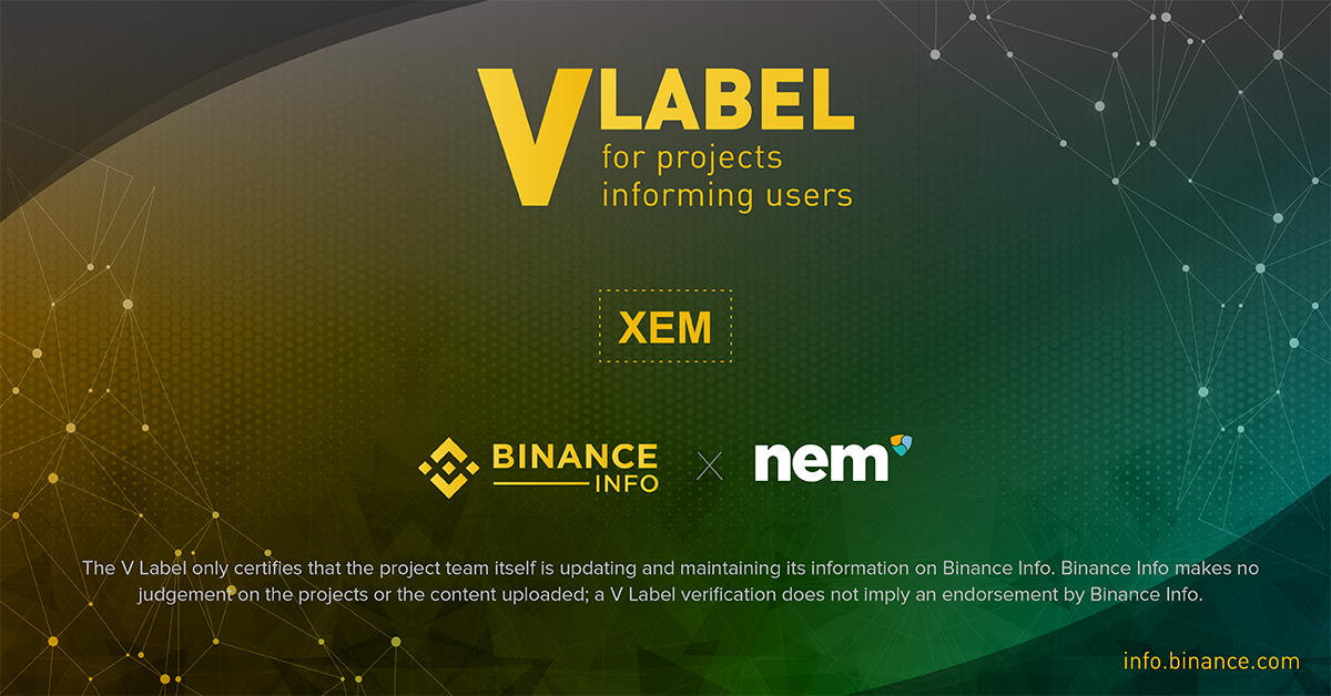 nem joins binance info