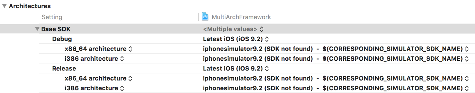 building fat binaries in xcode without lipo scripts