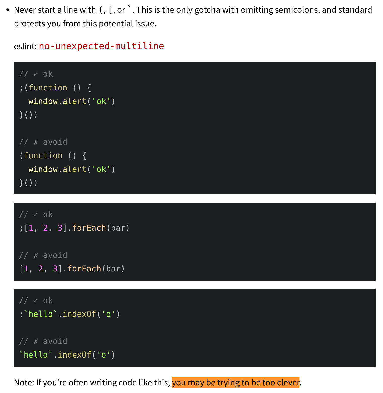 An Open Letter To Javascript Leaders Regarding Semicolons