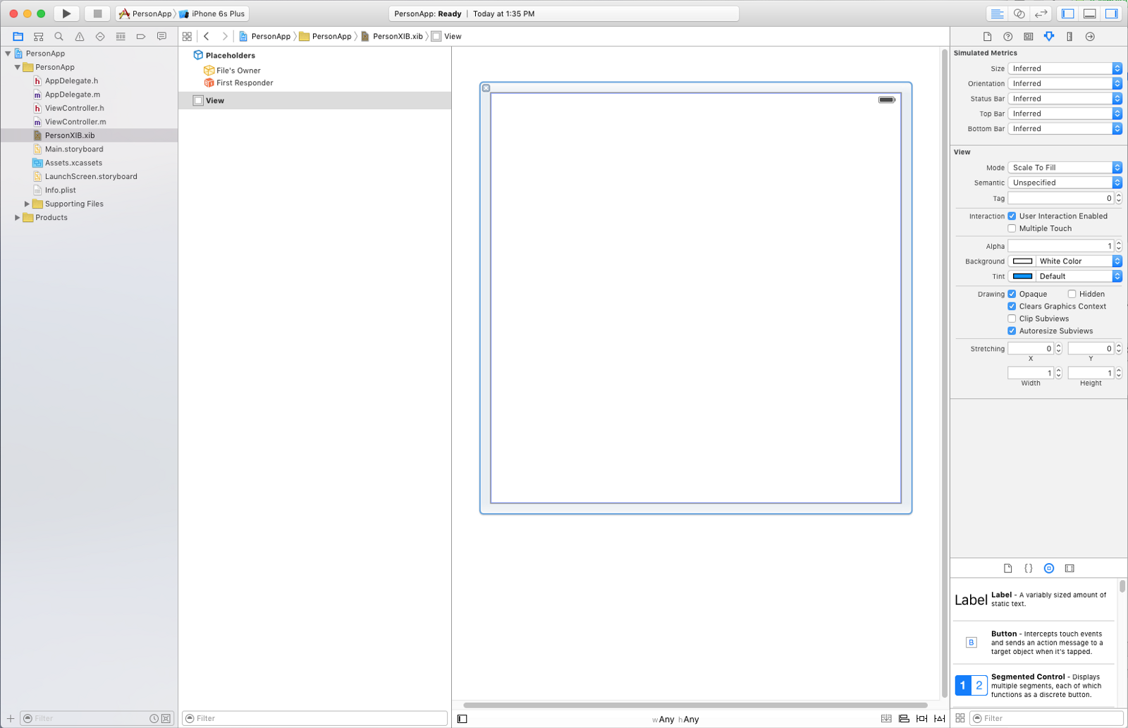 Objective c background image view - On The Top Right In The Attributes Inspector You Can Change The Size From Inferred To Freeform And Then Resize The Screen It Doesn T Actually Matter