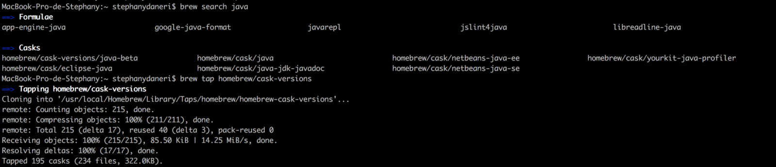 Brew cask install java location | Hadoop Installation on Mac