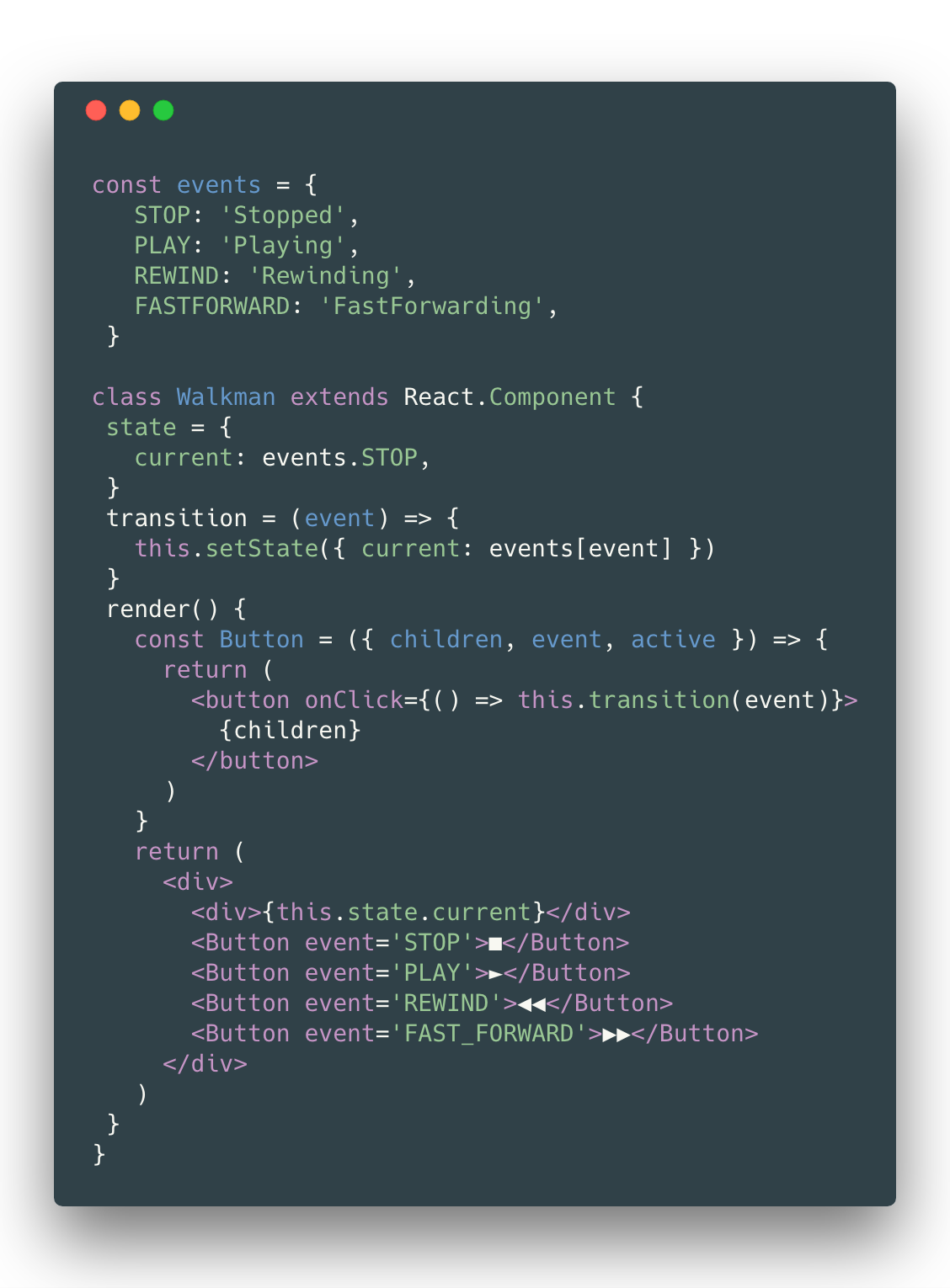 How To Visually Design State In Javascript Freecodecamporg Lets Look At The Other Type Of Circuit A Parallel Configuration When States Are Equivalent They Deceptively Easy Add Each Is Like Its Module That Can Be Developed And Tested Isolation