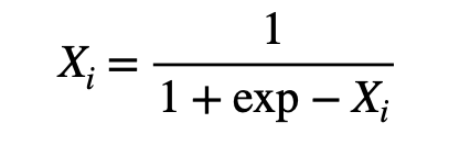 Exponential normalization