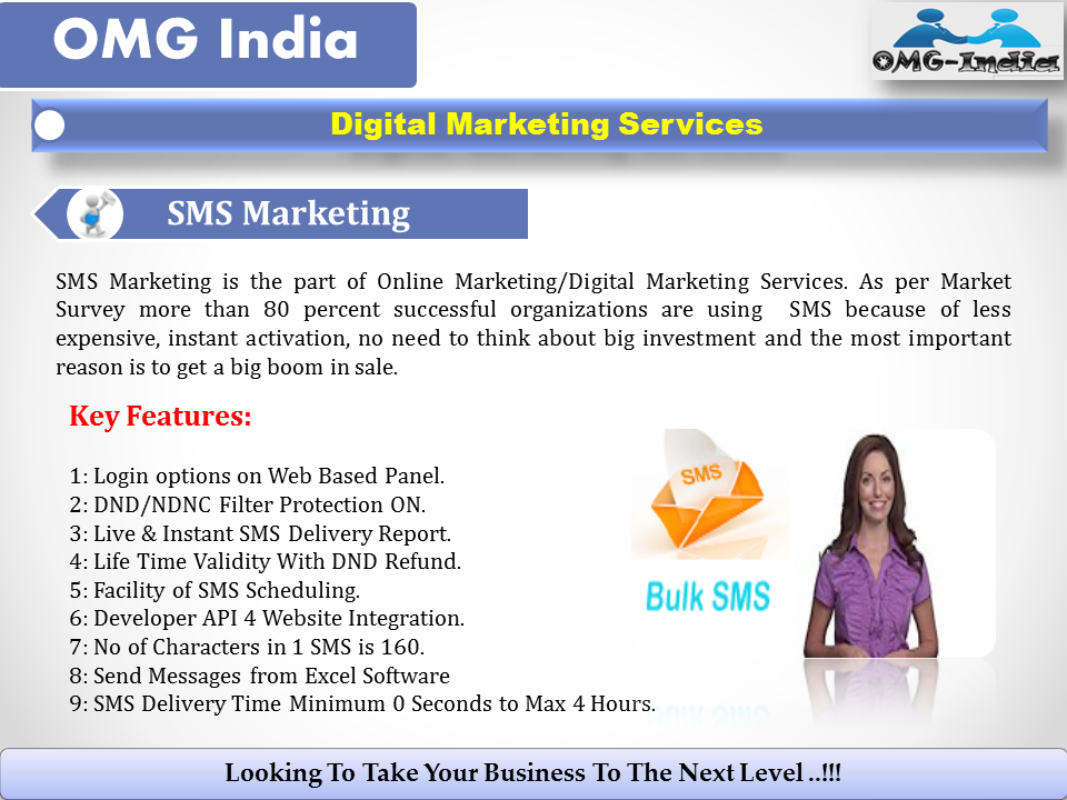 Bulk SMS Marketing Services India – OMG India - Digital Marketing