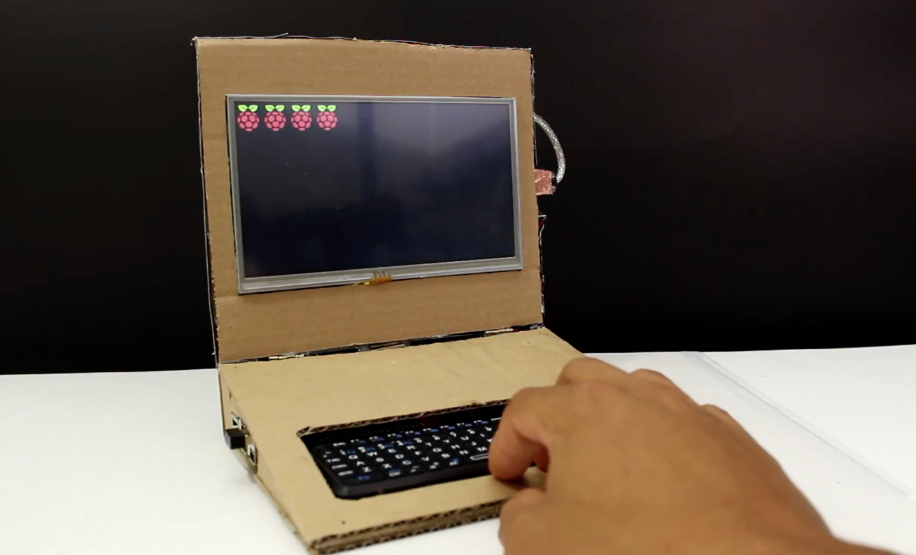Build Your Own Cardboard Laptop On The Cheap Hackster Blog