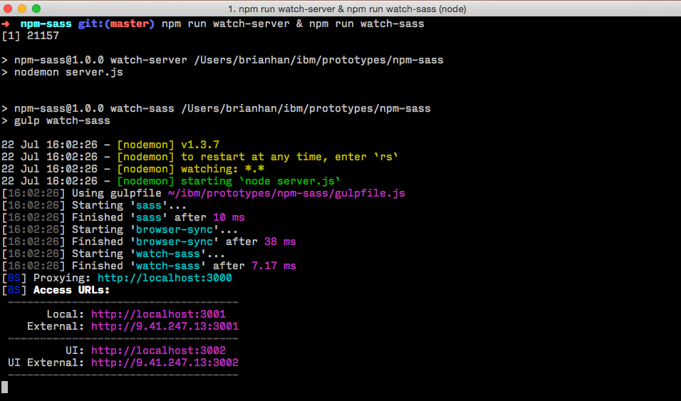 css - Gulp Watch working on one sever but not the other ...