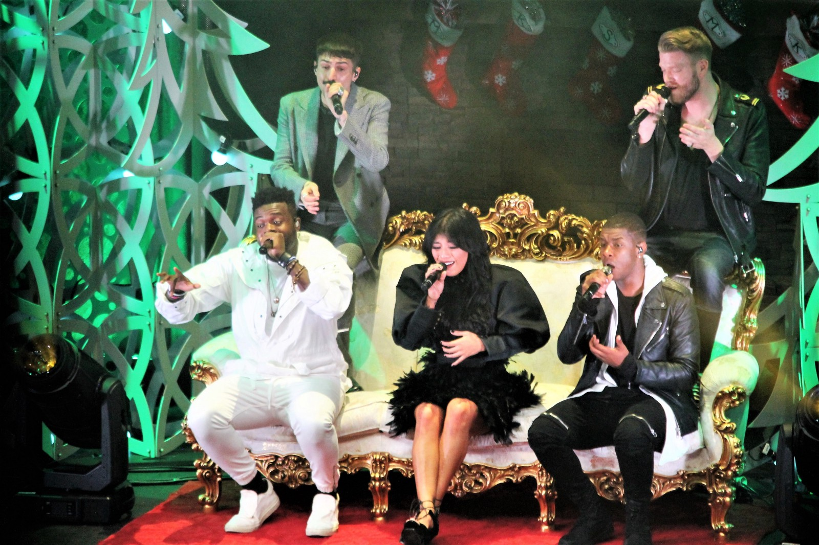 matt sallee and scott hoying performed modern acapella versions of holiday classics during a pentatonix christmas tour at tower theater