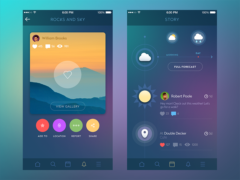successful custom mobile app designs most often use minimum base colors 1 or 2 and shades because they allow to achieve fast visual connections with the - Colors App