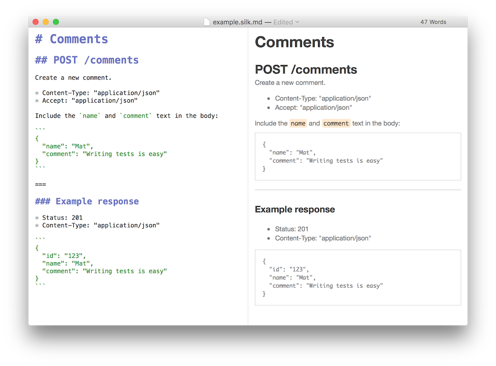 Introducing silk mat ryer medium silk lets you write markdown documentation for your apis and then execute as an automated test malvernweather Gallery