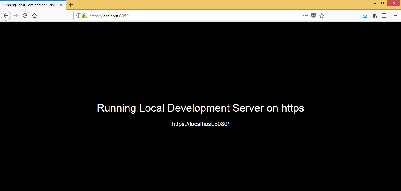 Running Local Development Server On Https Codeburst