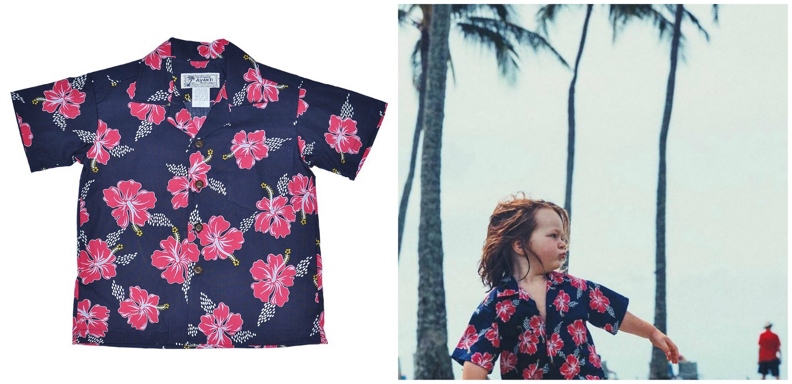 469a412f Hibiscus Trails Indigo Boy's Shirt: Nothing can beat the charm and  brightness of these kids Hawaiian shirt. The color combination speaks for  itself.