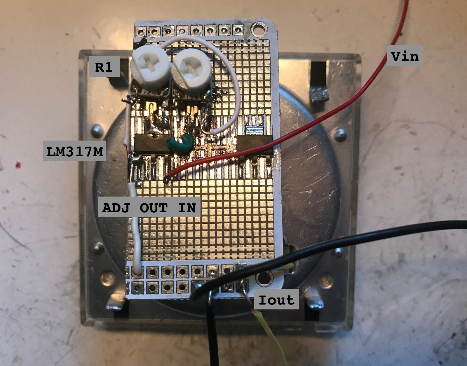 Voltage Regulators Revisted Lm317m 7812 Mcp170x Mic5219 And Icl7660 Regulator Adjustable Explanation Circuit Electronic Circuits Wired An Ammeter In Series With The Constant Current Output Although Range Of Is Too Great For It To Be Much Use What I Had Todo