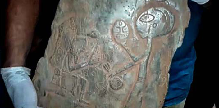 Mysterious Artifacts With Puzzling Humanoid Beings And Spaceships Discovered in Mexican Caves