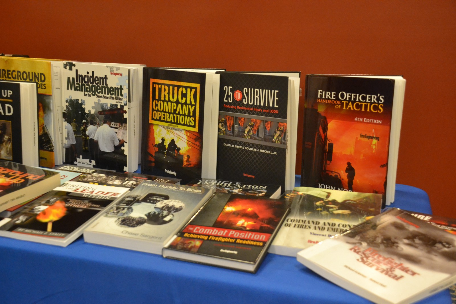 All of the books on display at Monday's ceremony are now available to read  at the Cherry Hill Public Library.