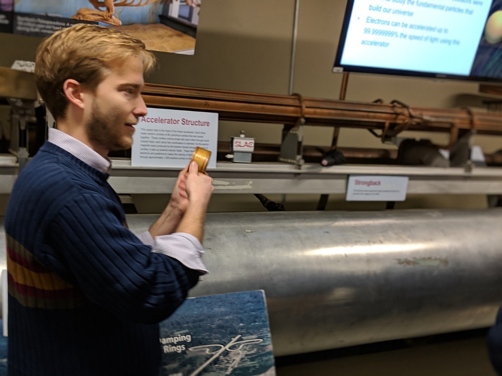 Michael Baumer, Ph.D in Physics at Stanford, explaining about how a particle accelerator works and why the research conducted there is important for mankind