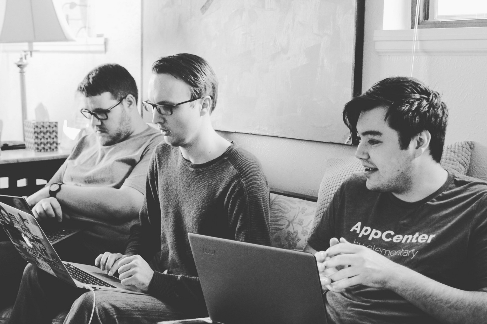 Nathan, Cody, and Dan at a hackfest