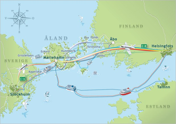 Åland The Blank Spot In The Baltic Sea DEFINE THE NEW EUROPE - Aland islands world map