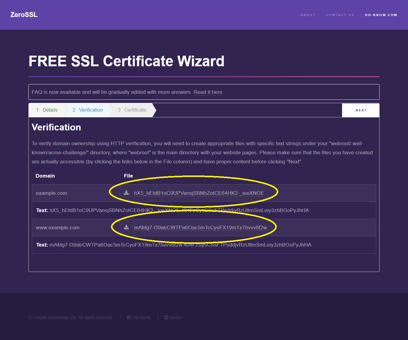 Install ssl certificate for free lets encrypt installation and it returns you the keys that mean its installed correctly and you can hit next and it will verify that everything is right and if everything went well xflitez Choice Image
