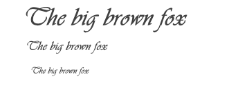 Cursive fonts are difficult to read and should be used with care. (source)