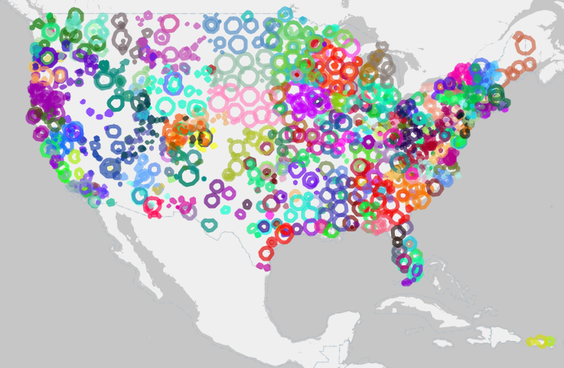 map of public radio stations around the us from publicradiomap com