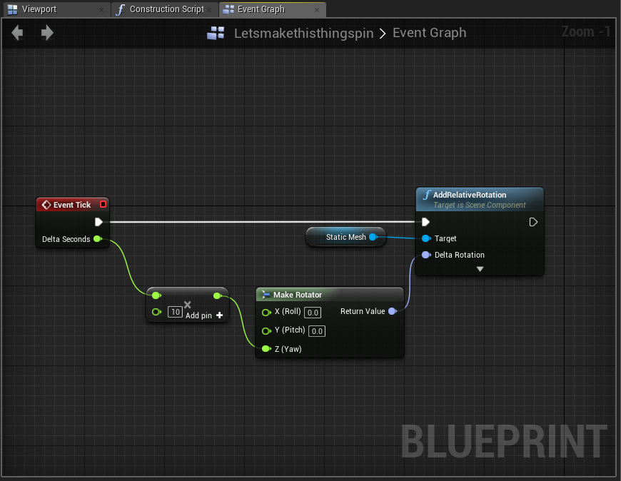 Simple animation in ue4 luke marsden medium rotate object indefinitely blueprint unreal engine 2017 malvernweather Image collections