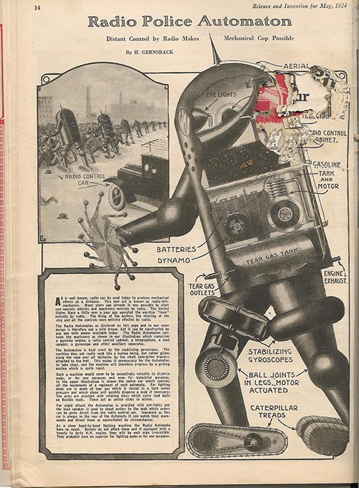 """Radio Police Automaton"" Science and Invention, 1924."