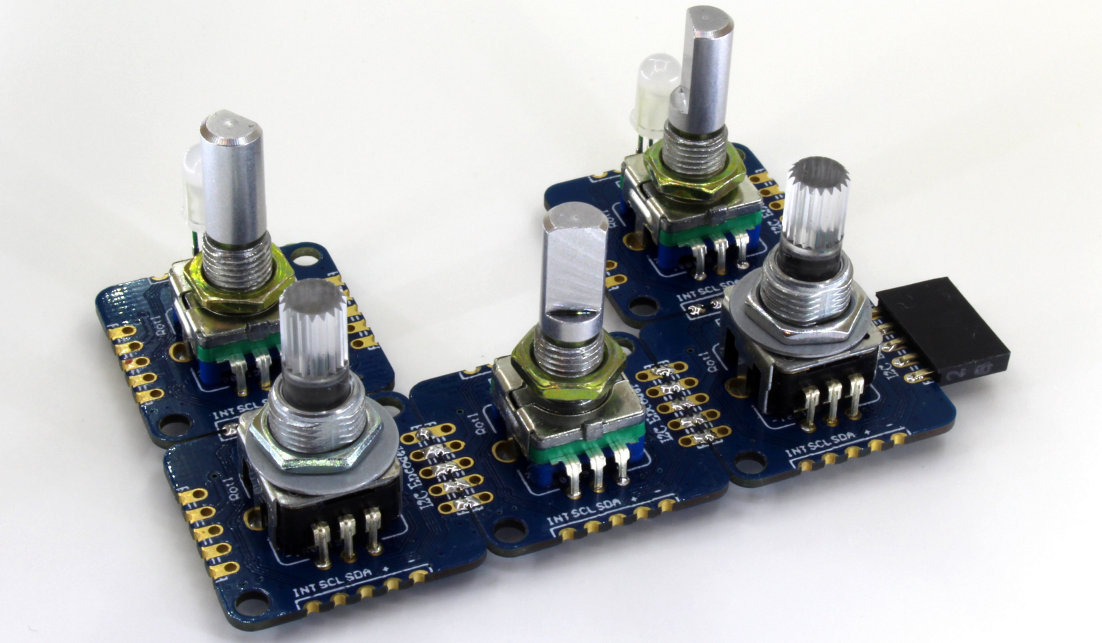 I2c Encoder Board Lets You Spinput Without The Hassle Definition Of Passive Components Are Electronic That If Using Also Means Multiple Encoders Can Be Chained Together And Theyre Configured So They Attached Directly With Solder