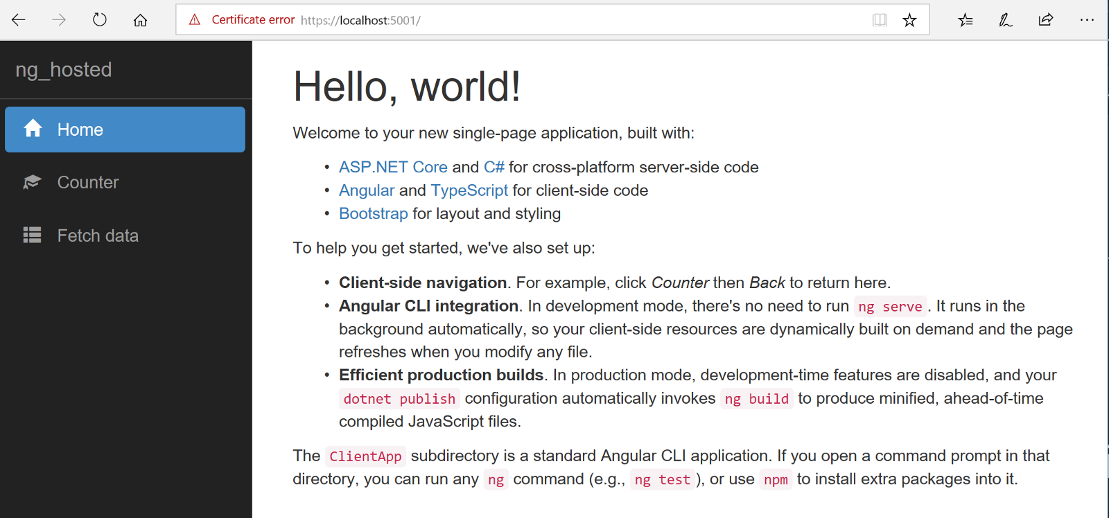 The Angular .NET Core 2.1 Template (Part Two) – Developer for Life