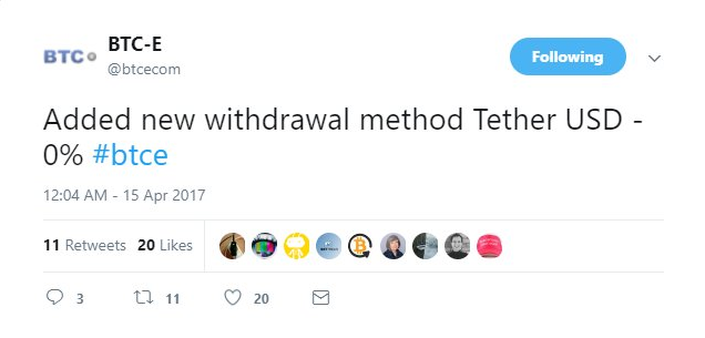 Tether banking crisis started late March, with lawsuit on April 5th and  retracted a week later.