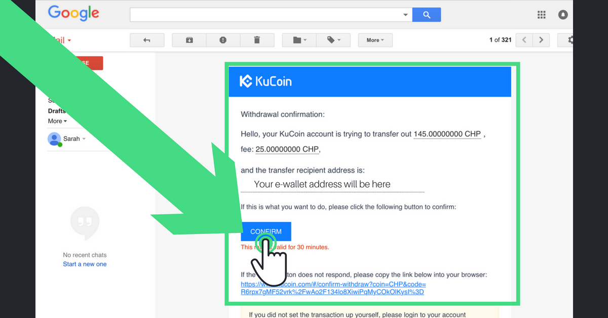 Buy CHP tokens on KuCoin exchange step 5