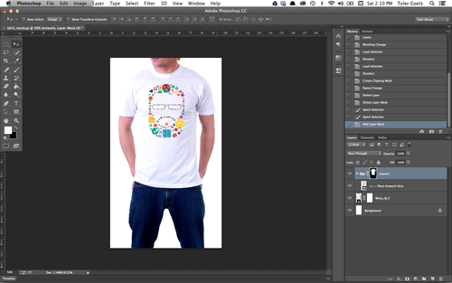 aa7157693 Tip: The Layer Mask on your artwork folder should look like a white blank  shirt with a black background. If it looks like a black shirt with a white  ...