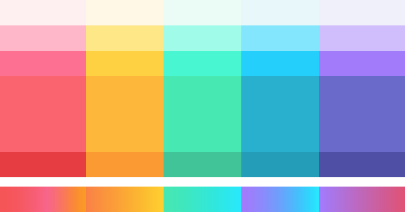 ... an energizing new color palette. We looked at many different hues and combinations before landing on a set that communicated clear meaning ...